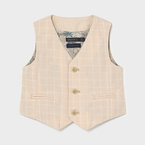 1341 Mayoral Boys Canvas Dressy Linen Vest