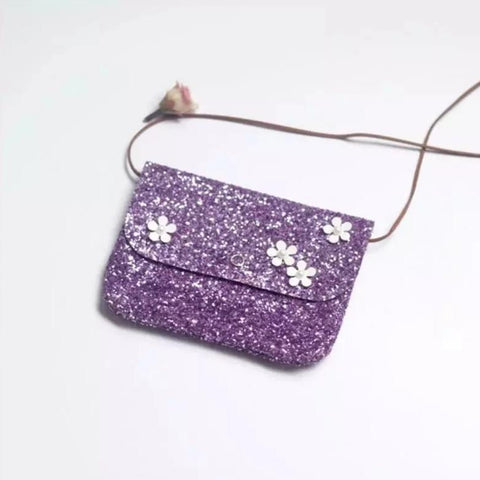 Accessories - Flower Glitter Crossbody Purse (CLICK FOR COLOR CHOICES)