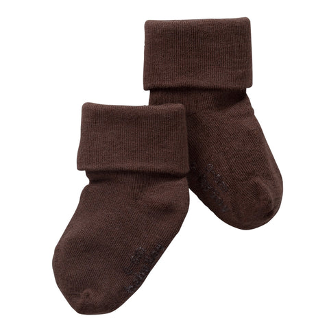 Baby Soy - Sustainable, Eco-friendly, Soy Fiber Socks, Solid Dark Chocolate