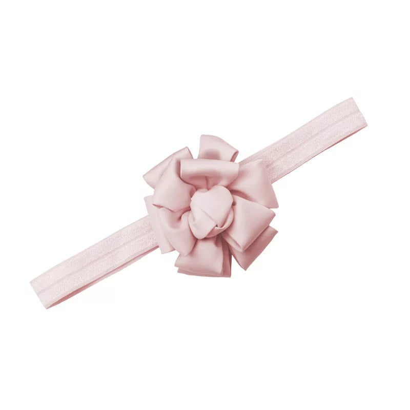 soft blush pink bow silk handmade headband