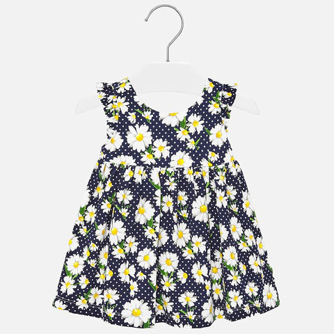 1945 Mayoral Polka Dot & Daisy Print Sundress, Navy
