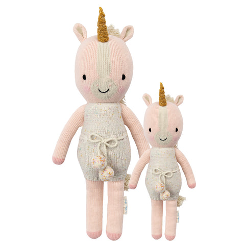 Cuddle+Kind Heirloom Hand-Knit Dolls, Ella the Unicorn (two sizes available)