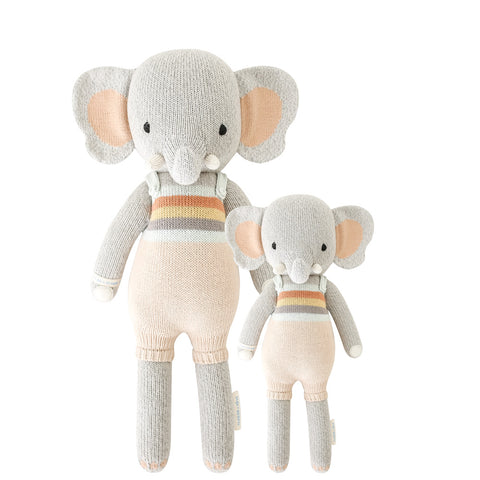Cuddle+Kind Heirloom Hand-Knit Dolls, Evan the Elephant (two sizes available)