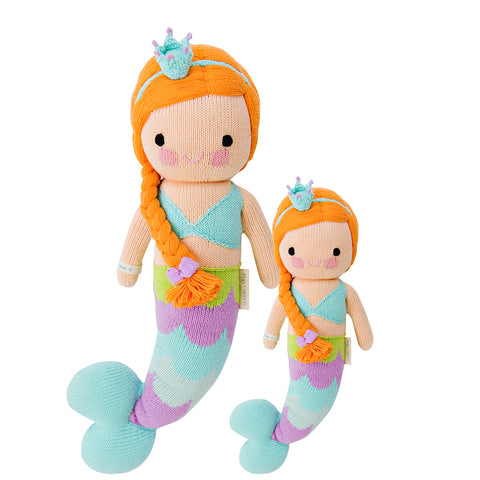 Cuddle+Kind Heirloom Hand-Knit Dolls, Isla the Mermaid (two sizes available)