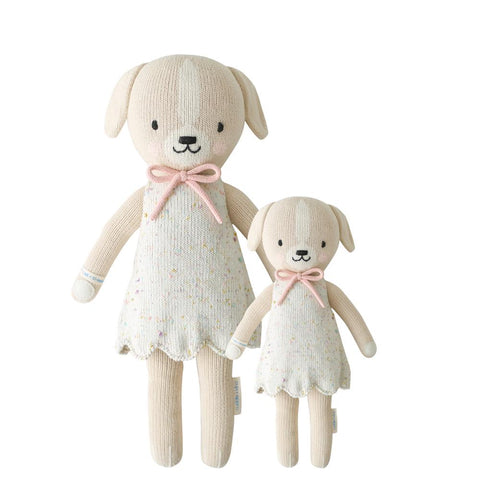 Cuddle+Kind Heirloom Hand-Knit Dolls, Mia the Dog  (two sizes available)
