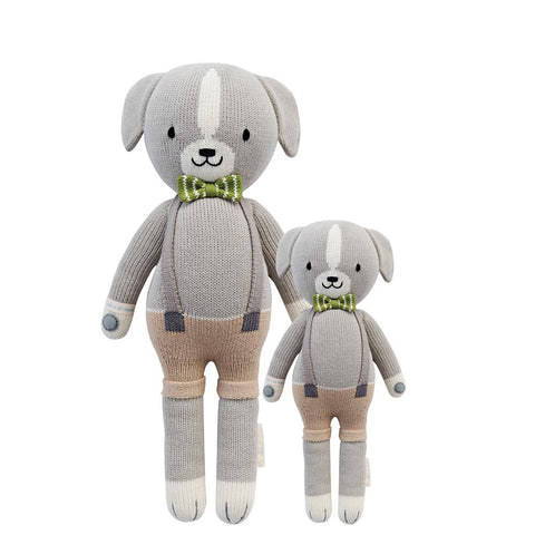 Cuddle+Kind Heirloom Hand-Knit Dolls, Noah the Dog  (two sizes available)