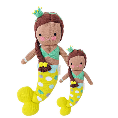 Cuddle+Kind Heirloom Hand-Knit Dolls, Pearl the Mermaid (two sizes available)