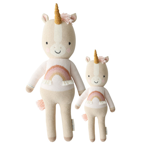 Cuddle+Kind Heirloom Hand-Knit Dolls, Zara the Unicorn (two sizes available)