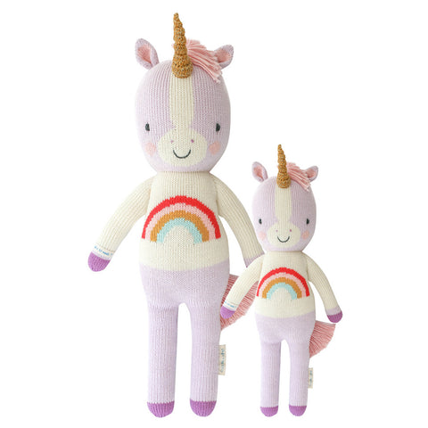 Cuddle+Kind Heirloom Hand-Knit Dolls, Zoe the Unicorn (two sizes available)