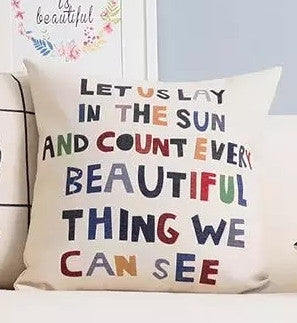 "Count Every Beautiful Thing We See, 16.5"" x 16.5"" Pillow Case"