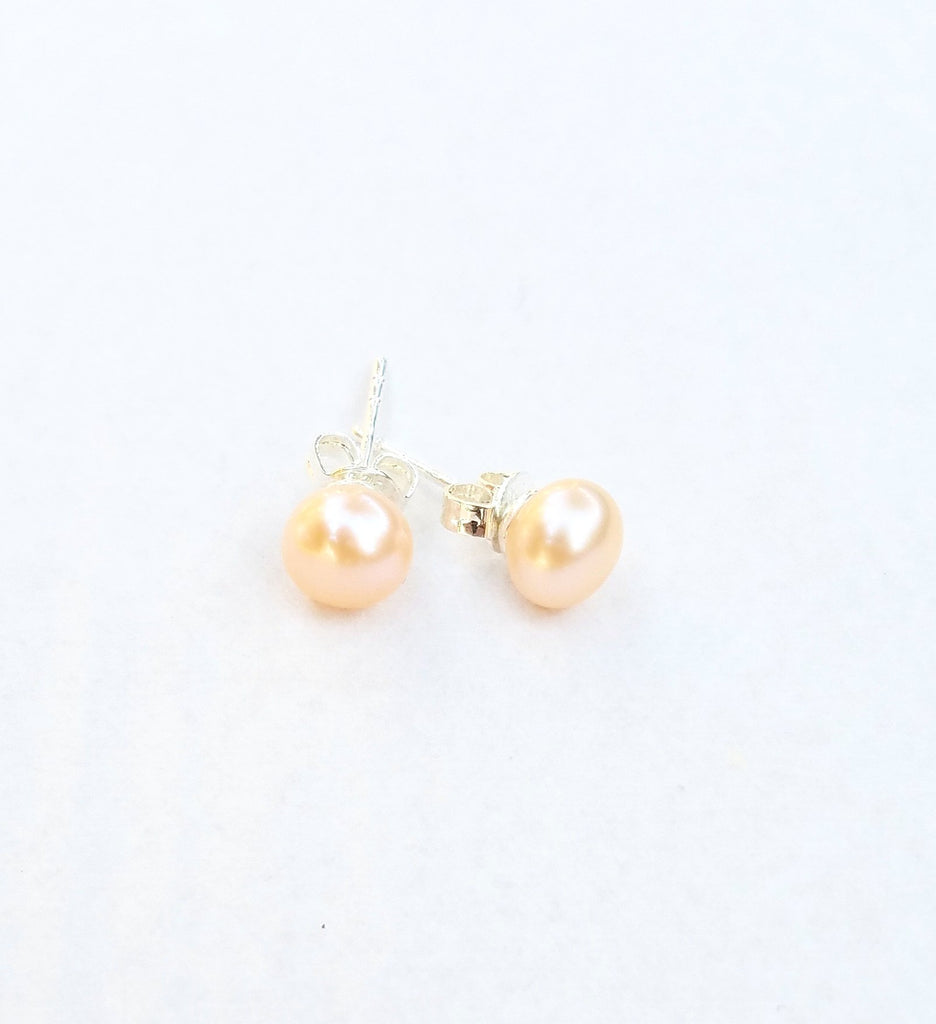 fresh water pearl earrings for little girls, cultured pearl earrings