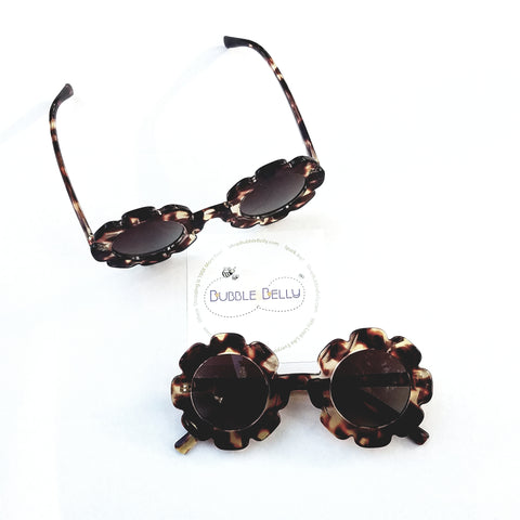 Kids Sunglasses, Tortoise Flower Frames