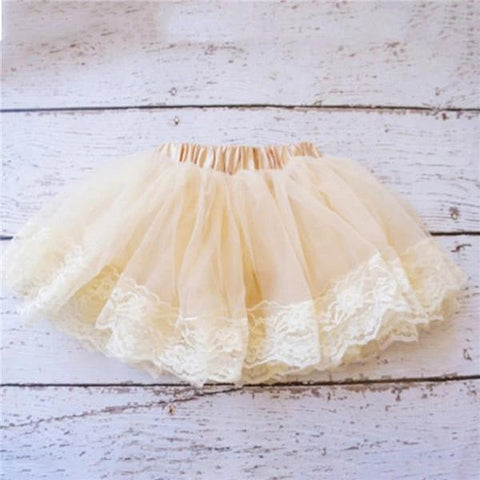 """Let's Dress Up"" Tutu Skirt, Vintage Lace, Lined Ivory Tutu"
