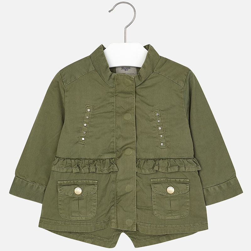 Mayoral, 1459, Army Green Studded Anorak