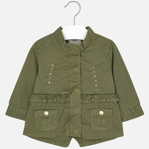 Mayoral 1459, Army Green Studded Anorak