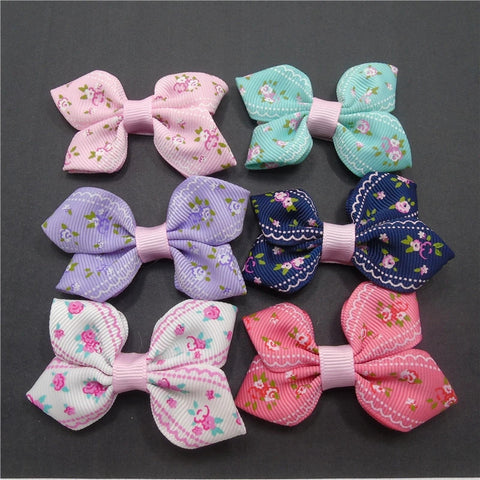Handmade Hair Accessories - Vintage Floral Bows - (CLICK FOR MORE OPTIONS)