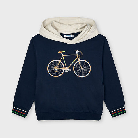 3403 Mayoral Boys Bicycle Printed Pullover, Navy