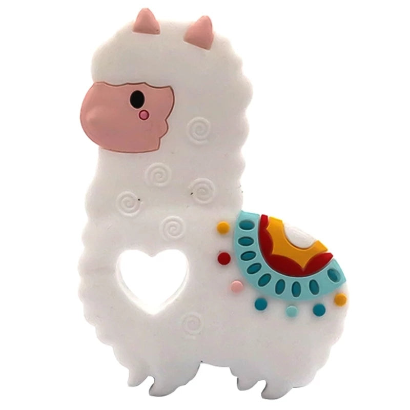 silicone llama teething toy for babies