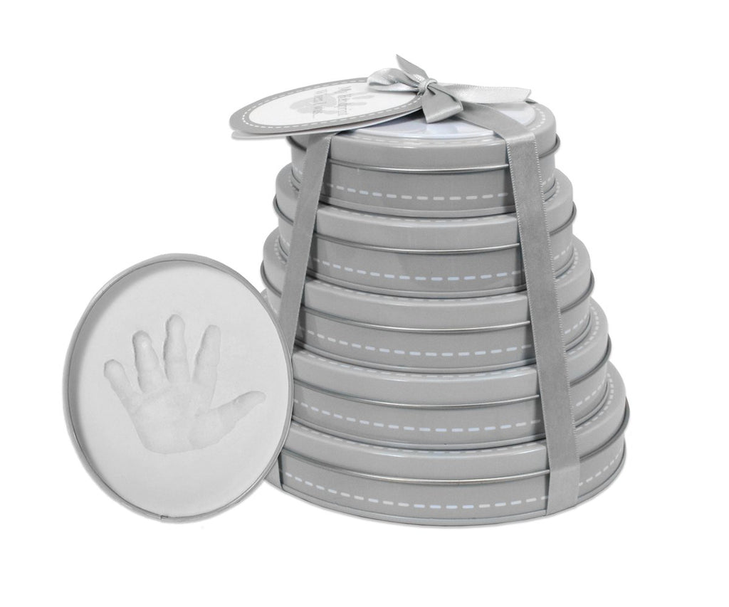 Hand & Foot Print Keepsake, Tower of Time Keepsake -Grey