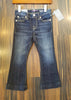 "Designer Kids Jeans - 7 For All Mankind - Girls ""Kaylie"" Slim Boot Cut, Dark Wash, Light Stitching"