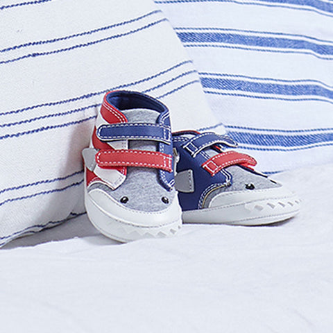 9398 Mayoral Baby Boys Red Shark Sneakers