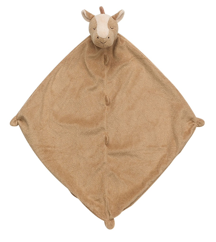 Brown Security Blanket with Pony Head on Blanket