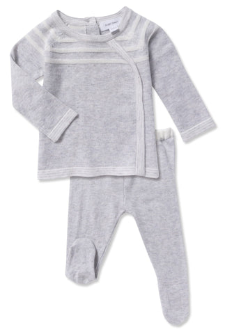 Angel Dear Unisex Take Me Home PJ Set - Knit Grey
