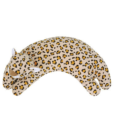 "Angel Dear 17"" Curved Toddler Pillow - Plush Tan Leopard"
