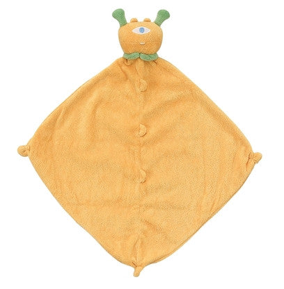 "Angel Dear 13"" x 13"" Cashmere-Soft Animal Blankie - Yellow Cyclops"