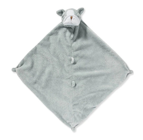 "Angel Dear 13"" Animal Blankie Lovie, Security Blanket - Grey Bulldog"