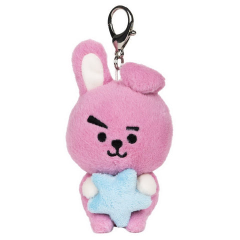 "BT21 Official Line Friends 3"" Plush Bumble Buddy Star Clip, Cooky Bunny"