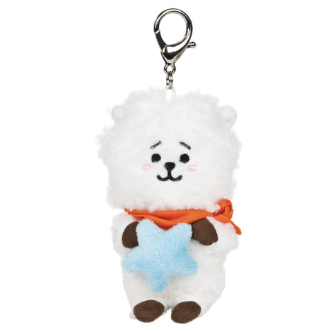 "BT21 Official Line Friends 3"" Bumble Buddy Backpack Bag Clip, RJ Alpaca"