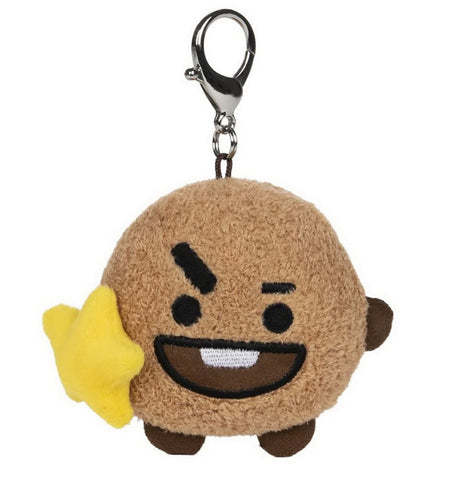 "BT21 Official Line Friends 3"" Bumble Buddy Backpack Bag Clip, Shooky Cookie"