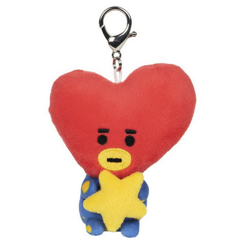 "BT21 Official Line Friends 3"" Plush Bumble Buddy Backpack Clip, Tata Heart"