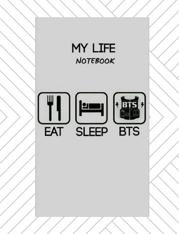BTS Bangtan Boys Kpop Wide Ruled Notebook for Armys