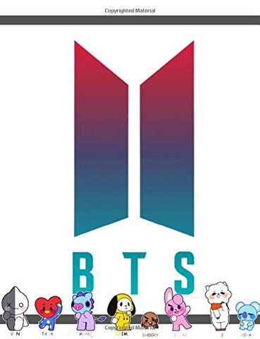 BTS BT21 Bangtan Boys Wide Ruled Notebook for Armys