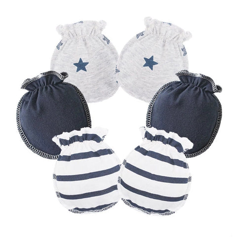 Newborn Essentials, No Scratch Newborn Mittens, Grey, 2 Pairs