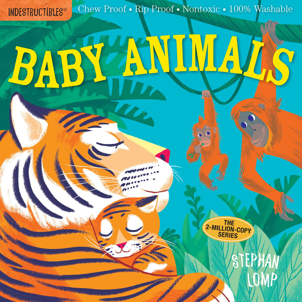 Washable Baby & Toddler Book, Baby Animals - Indestructible Book
