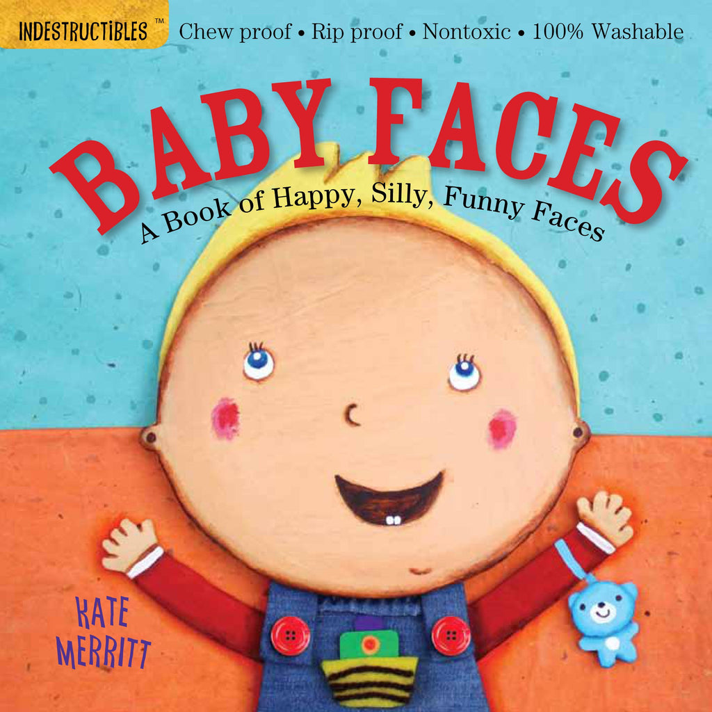 Washable Baby & Toddler Book, Baby Faces - Indestructible Book