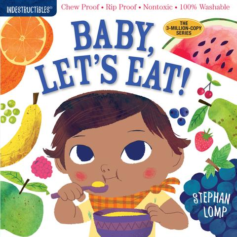 Washable Baby & Toddler Book, Baby Let's Eat - Indestructible Book