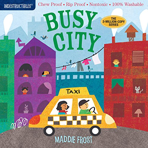 Washable Baby & Toddler Book, Busy City - Indestructible Book