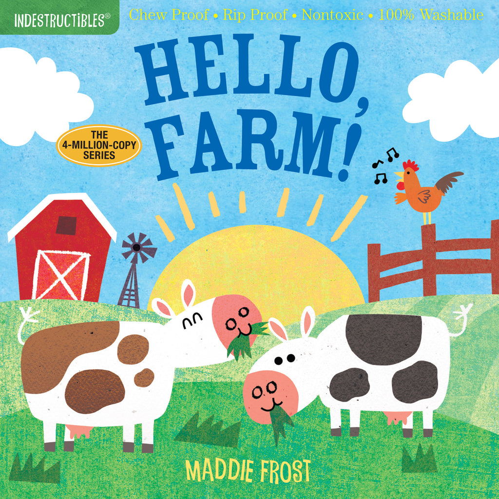 Washable Baby & Toddler Book, Hello, Farm! - Indestructible Book