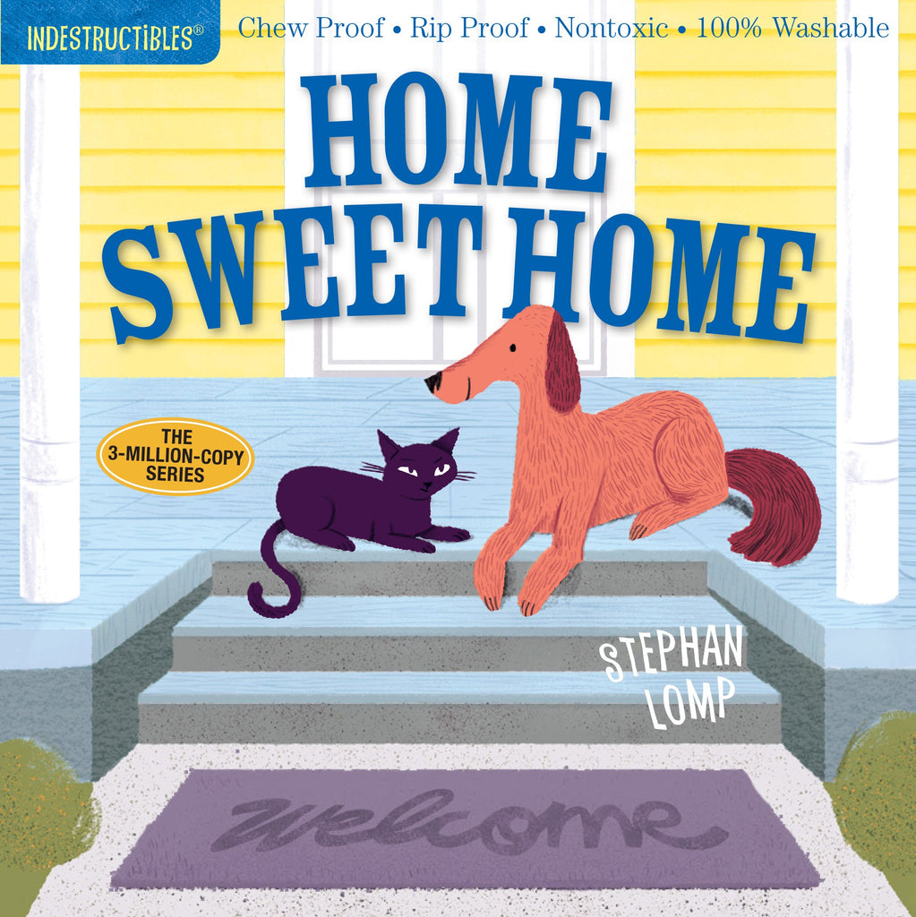 Washable, rip proof, chew proof, Baby & Toddler Book, Home Sweet Home - Indestructible Book