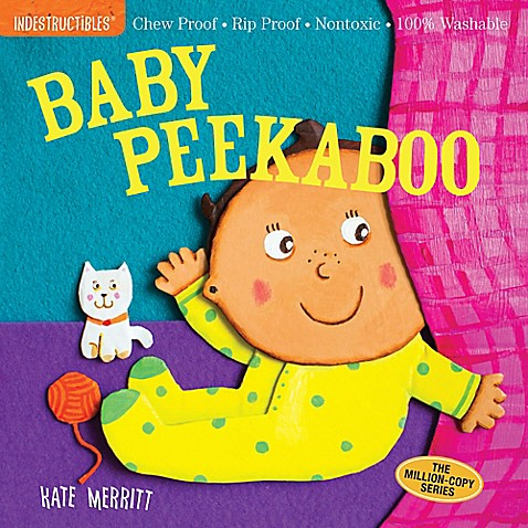 Washable Baby & Toddler Book, Peek-A-Boo - Indestructible Book