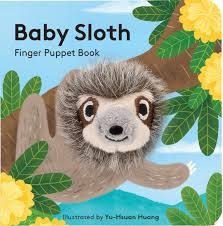 Baby Board Book - Baby Sloth Finger Puppet Book