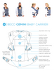 Beco Gemini 4-in-1 Baby Carrier - Infant/Toddler Carrier - Steps