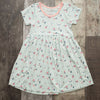 matching big sister twirl dress, spring bloom print, sustainable beechwood, super soft tagless dress