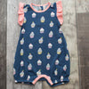 matching baby sister bubble romper, cupcake navy ruffled onepiece bodysuit, modal
