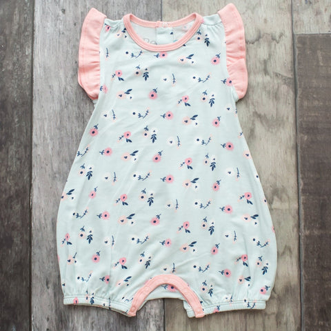 Bestaroo, Eco-friendly Bamboo / Beechwood, Lux Modal - Girls Onepiece Romper, Spring Bloom
