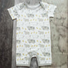 Boys Shortall Romper, Onepiece, Lux Modal made of Beechwood, Farm Animals design all over
